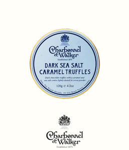 Charbonnel et Walker dark sea salt caramel truffles 120gr