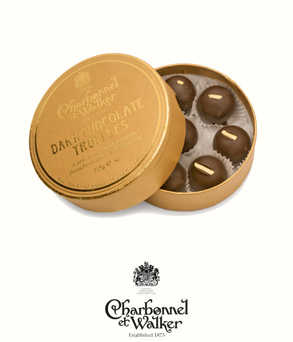 Charbonnel et Walker dark gold leaf truffles 115gr