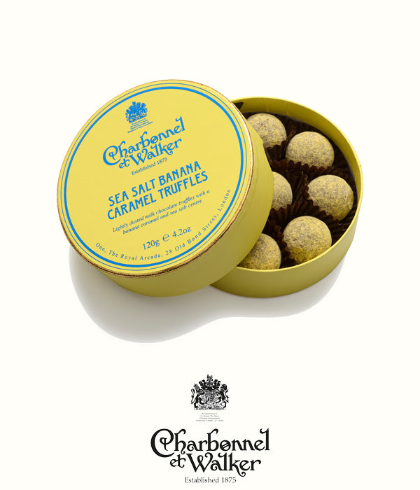 Charbonnel et Walker sea salt banana truffles 120gr