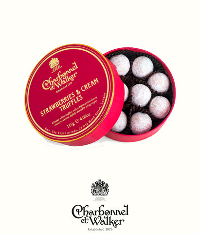 Charbonnel et Walker strawberry and cream truffles 135gr