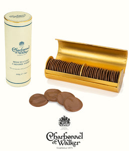 Charbonnel et Walker chocolate thins milk sea salt caramel 400gr