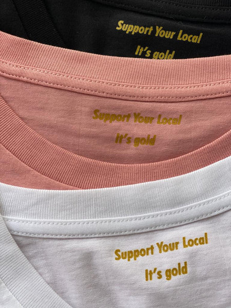"SUPPORT YOUR LOCAL ""no logo"" womens s/s t-shirt"