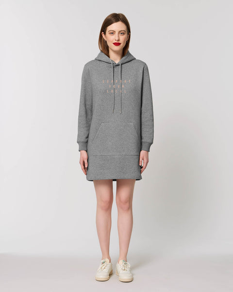 SUPPORT YOUR LOCAL hooded dress