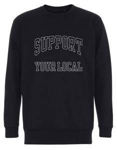SUPPORT YOUR LOCAL mens sweatshirt (uniline print)