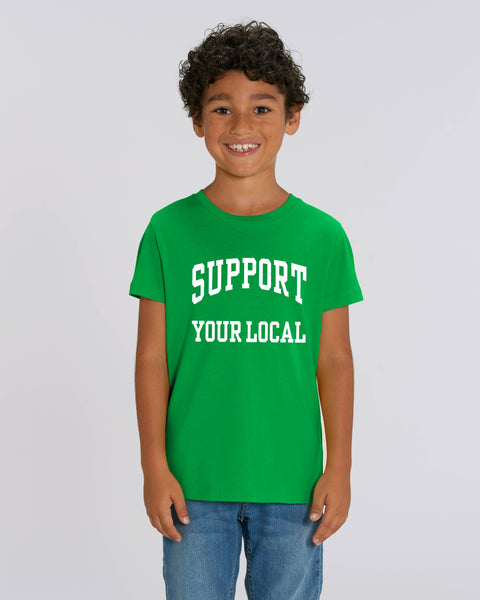 SUPPORT YOUR LOCAL kids t-shirt (university print)