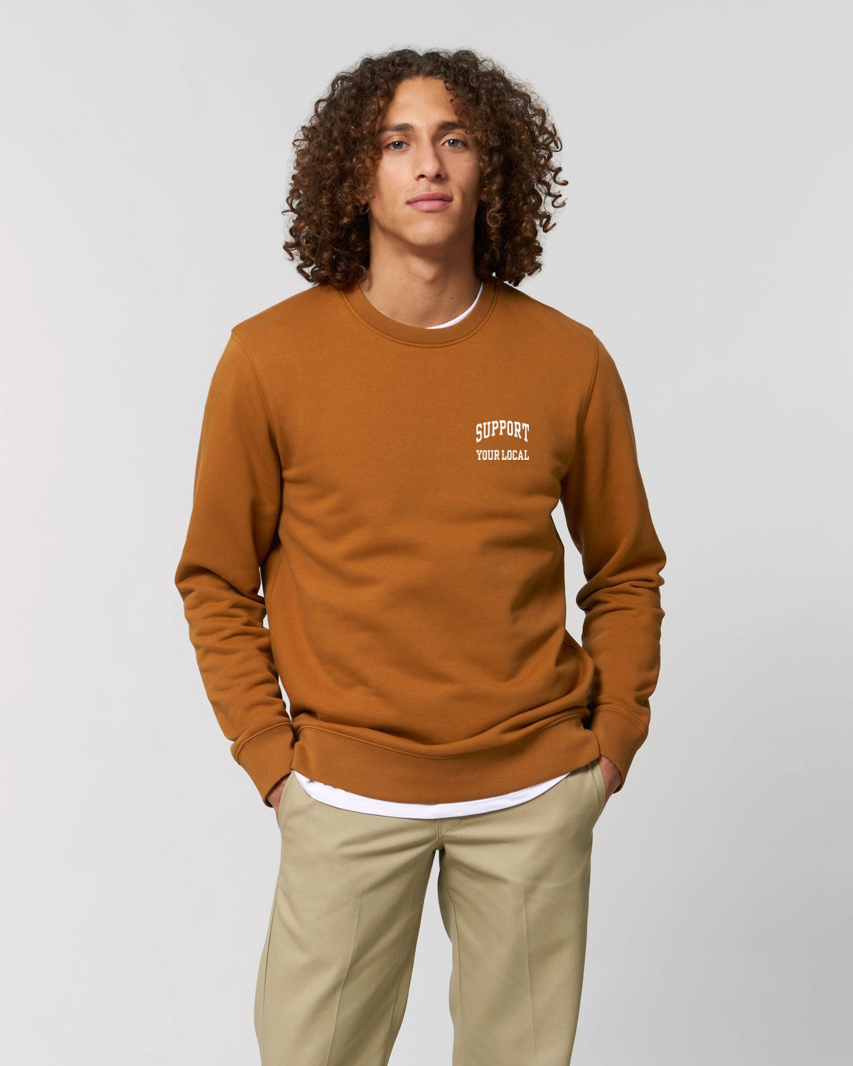 SUPPORT YOUR LOCAL mens sweatshirt
