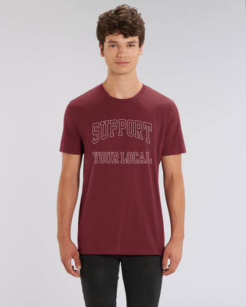 SUPPORT YOUR LOCAL mens t-shirt (uniline print)
