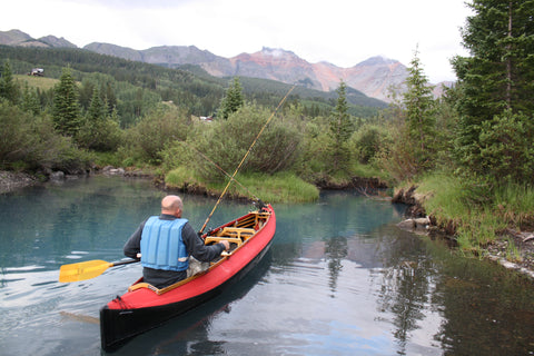 Mark Eckhart in Red Canoe