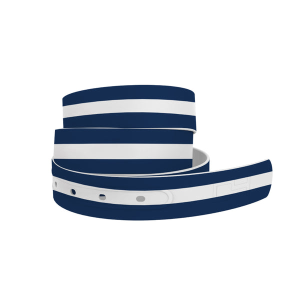 Navy and White Stripes Belt