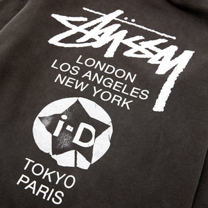 i-D x Stüssy World Tour Hood Black