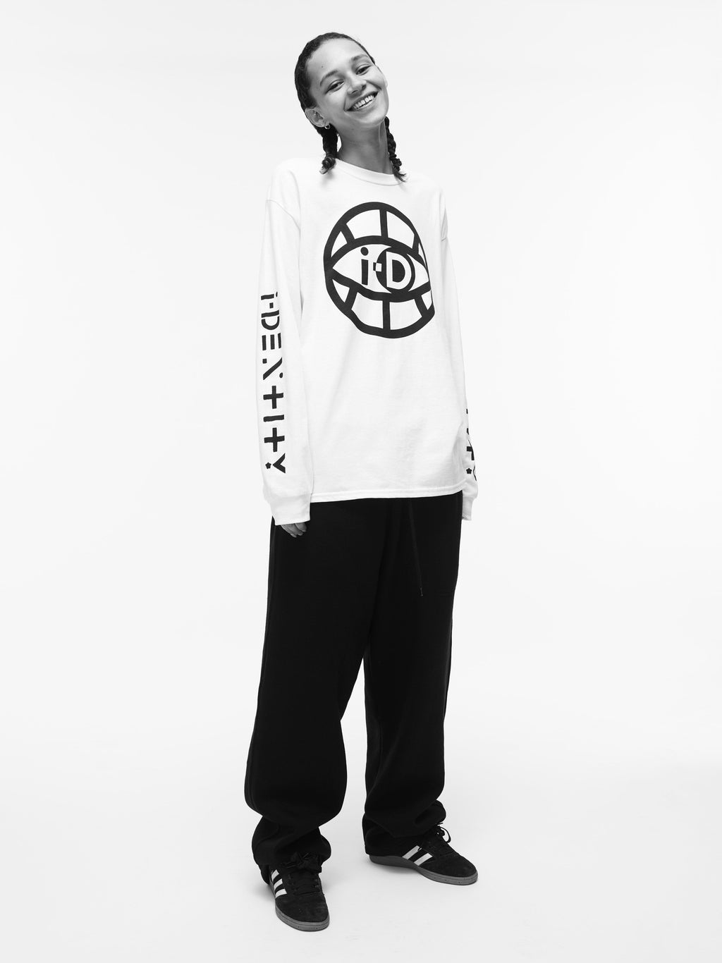i-D Global Eye Logo Long Sleeve Top