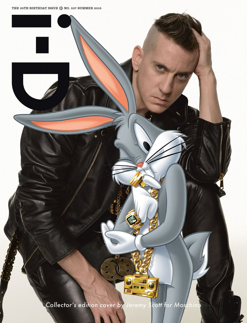 337. JEREMY SCOTT FOR MOSCHINO COLLECTOR'S EDITION COVER WRAP