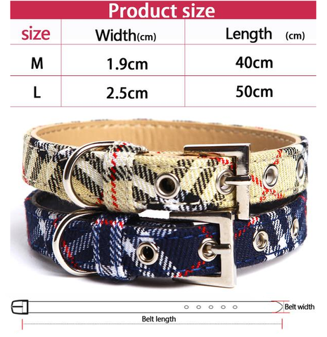 Stylish Adjustable Pet Dogs Collar