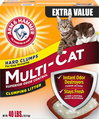 Arm & Hammer Multi-cat Extra Strength Clump Litter - Wagging Online