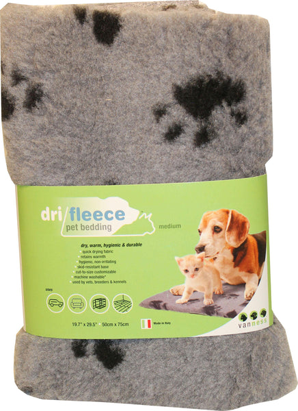 Dri-fleece Pet Bedding With Paws - Wagging Online