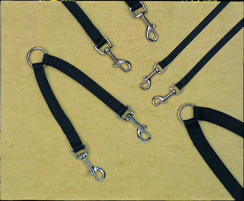 Nylon Double Coupler Walking 2 Dogs - Wagging Online