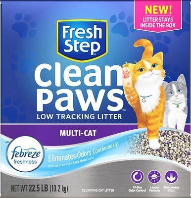 Fresh Step Clean Paws Multi Cat Litter - Wagging Online
