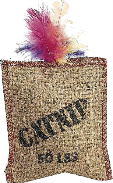 Jute & Feather Sack With Catnip - Wagging Online