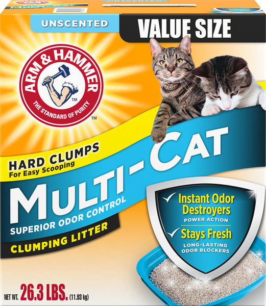 Arm & Hammer Multi-cat Clumping Litter - Wagging Online