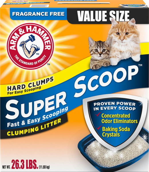 Arm & Hammer Super Scoop Clumping Litter - Wagging Online