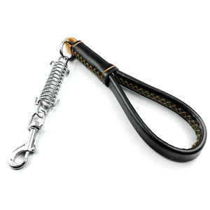 "1.0"" Wide 16""Long Brown Leather Short Dog Leash Dogs Training Lead  Heavy Duty Strong Leash - Wagging Online"