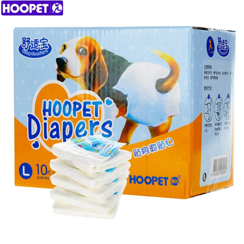HOOPET Pet Dog Disposable Diapers Comfort Fit Super Absorbency Strong Deodorizing Ability Antibacterial Remain Dry and Clean - Wagging Online