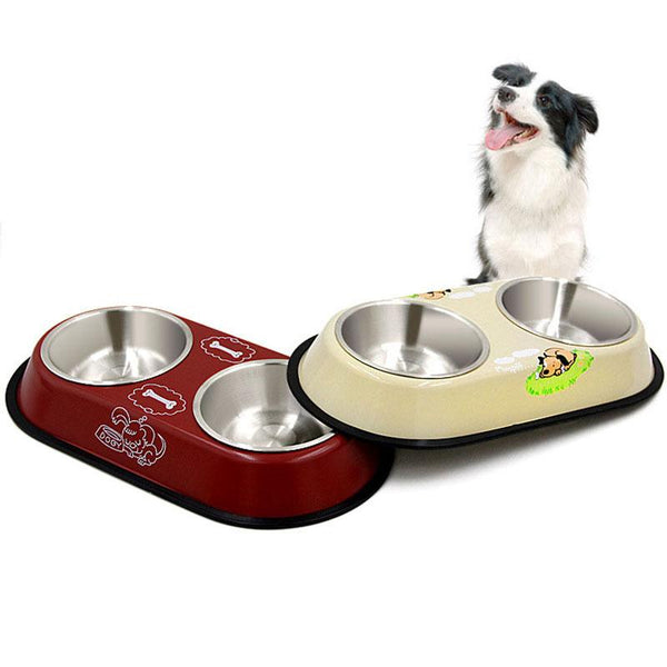 Non-slip Stainless Steel Pet Food Bowl - Wagging Online