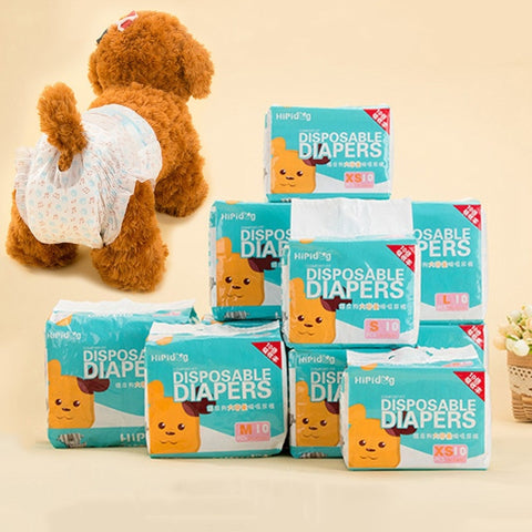 Popular Sale 10PCS/Bag Pet Diapers Female Dog Disposable Leakproof Nappies Puppy Super Absorption Physiological Pants - Wagging Online