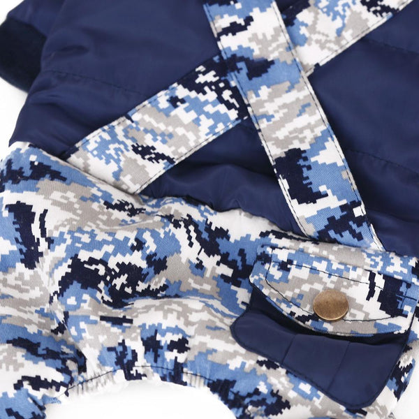 Small Dog Navy Camouflage Straps - Wagging Online