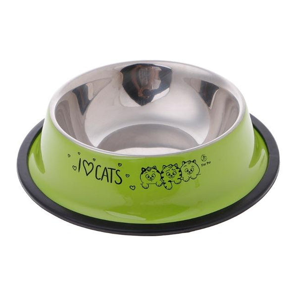 Anti-Skid Stainless Steel Food Bowl - Wagging Online