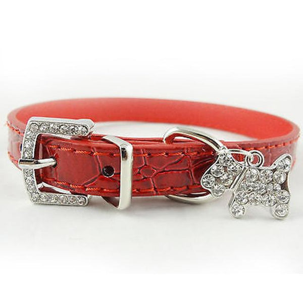 Stylish Small Dogs Collar With Bling - Wagging Online