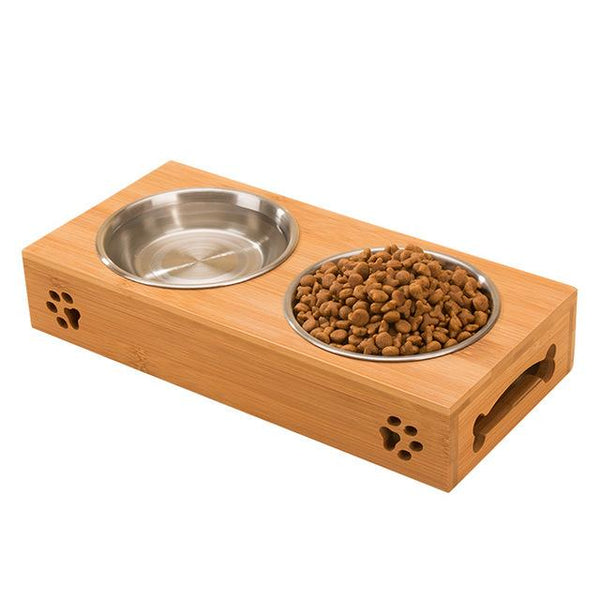 Petminru Pet Bowl With Bamboo Base - Wagging Online