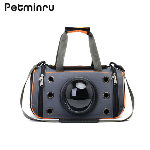 Petminru Breathable Pet Handbag Dog Shoulder Carrier Bags Portable Outdoor Cat Dog Carrier Folding Teddy Travel Space Bag - Wagging Online