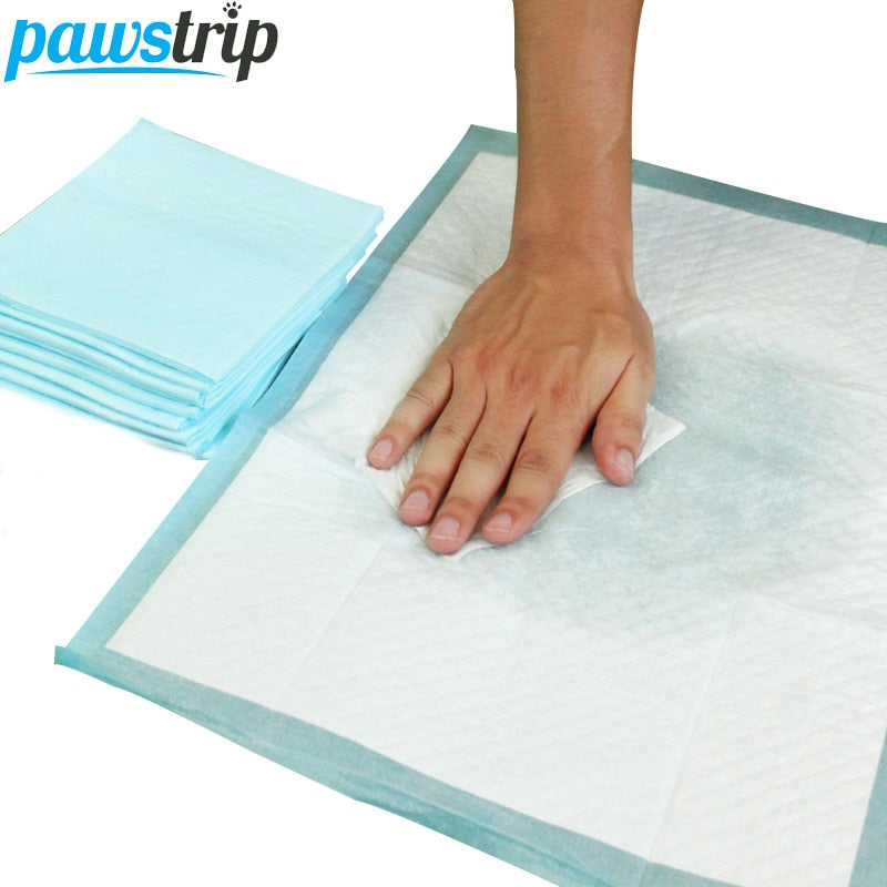 50pcs/lot Pure Wood Pulp Pet Dog Diaper Super Absorbent Puppy Training Pee Pads Thickening Toilet Wet Mat 45*60cm - Wagging Online