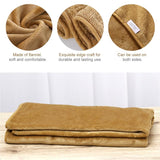 Luxury Khaki Pet Blanket Bed Cover - Wagging Online