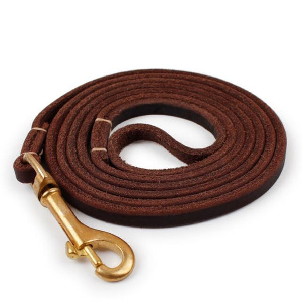 Genuine Leather Dog Leash - Wagging Online