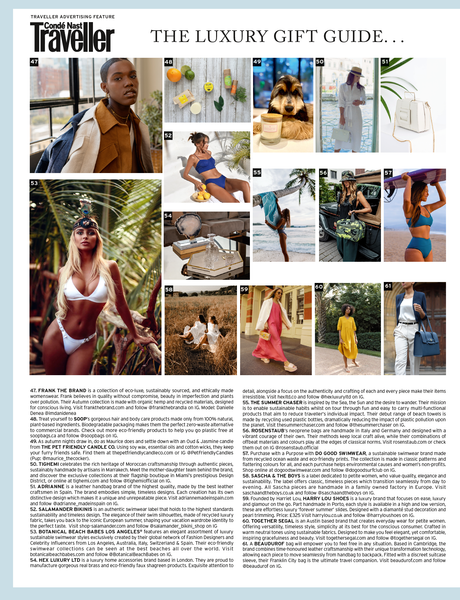 The Summer Chaser - As seen in Condé Nast Traveller magazine November 2020 Issue