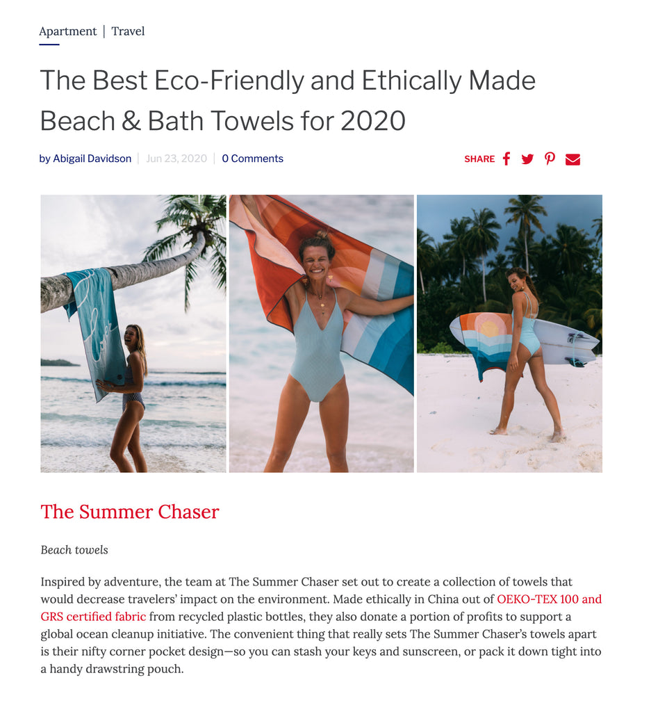 EcoCult - The Best Eco-Friendly and Ethically Made Beach & Bath Towels for 2020 by Abigail Davidson, Jun 23, 2020