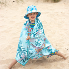 Load image into Gallery viewer, Junior-sized towel, Always Summer towel, hawaiian pattern, The Summer Chaser, beach towels for kids