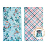 Junior-sized towel, Always Summer towel, hawaiian pattern, The Summer Chaser, beach towels for kids