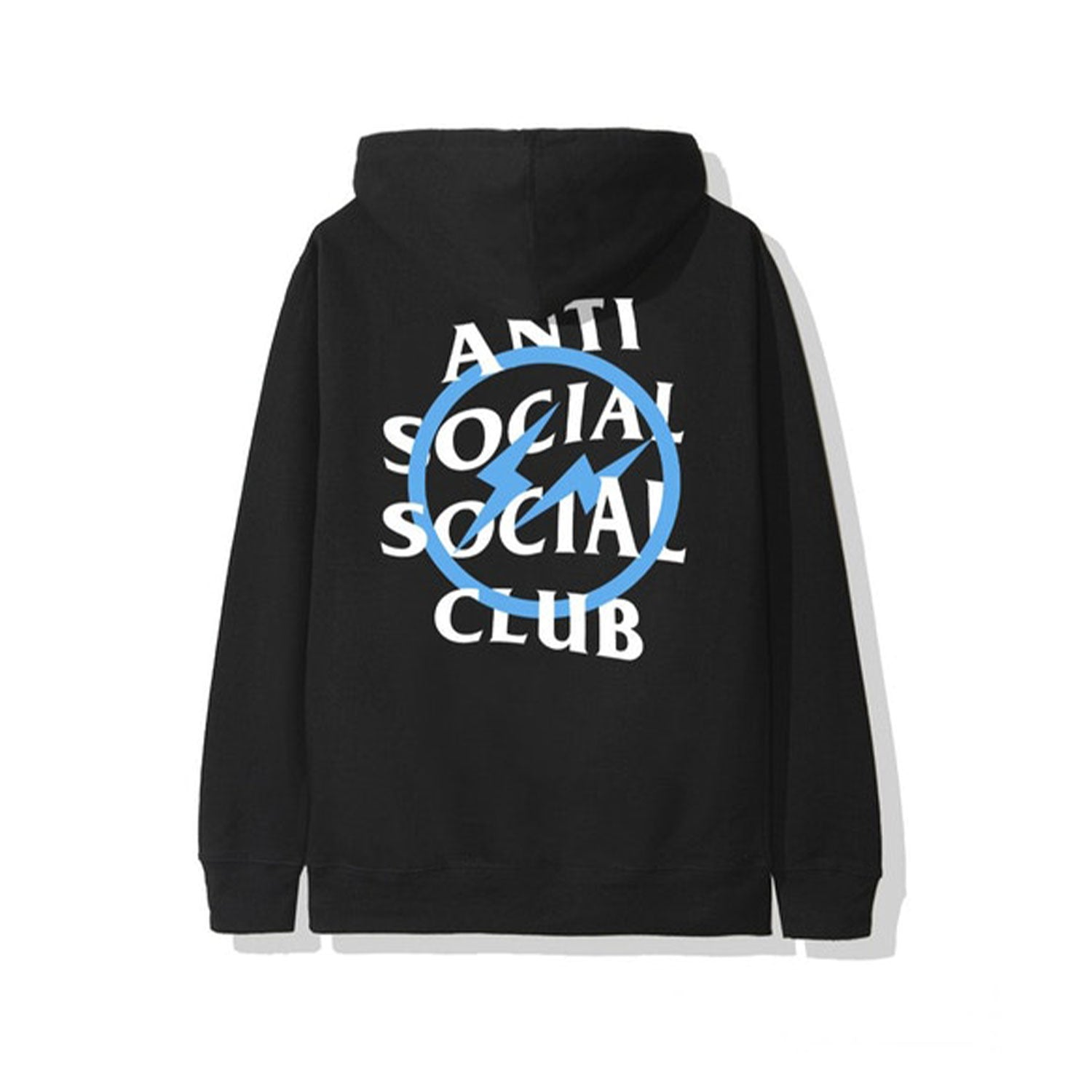 Anti Social Social Club x Fragment Blue Bolt Hoodie Black