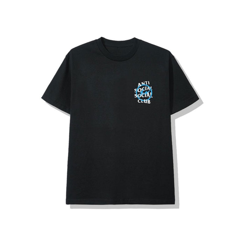 Anti Social Social Club x Fragment Blue Bolt Tee Black