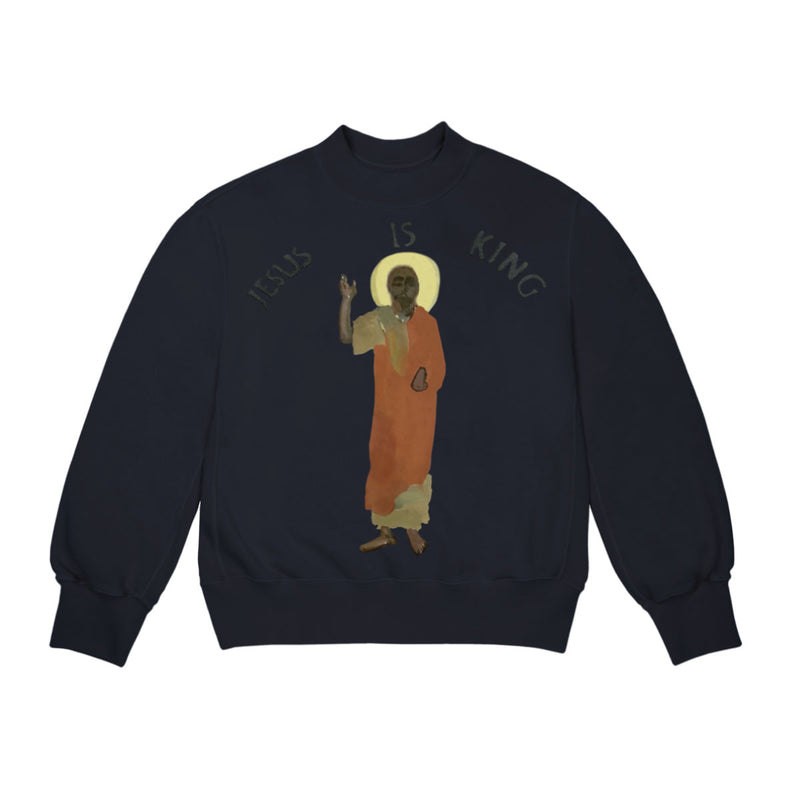 KANYE WEST JESUS IS KING CREW NECK SWEAT SHIRT - XL
