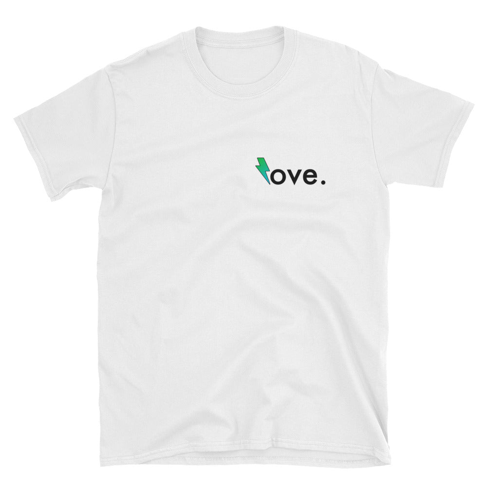 """Love"" Rose Storm Short Sleeve Graphic Tee"