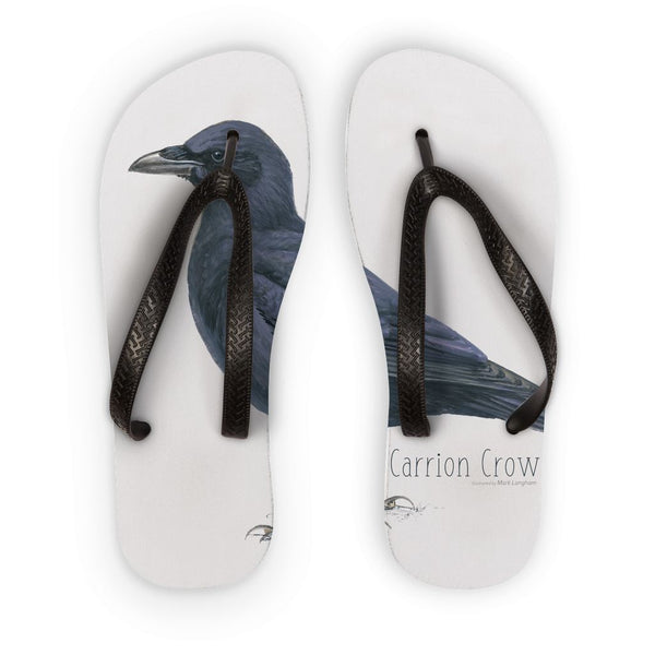 Carrion Crow Flip Flops