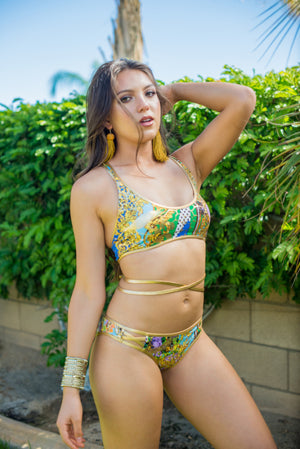 The Golden Queen 2pc Bikini Strappy Swimsuit - TheActiveBrand