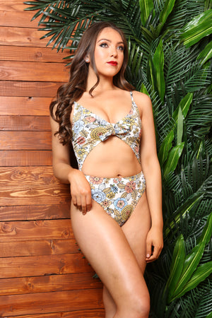 Valley Of Dolls 1 Pc Floral Openwork Swimsuit - TheActiveBrand
