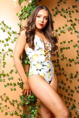 Lemonade Print Lemons Resort Sultry Swimwear - TheActiveBrand
