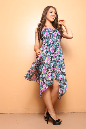 Floral Sheer Beach Cover Up Travel Dress