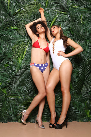 Fourth of July Ready Sexy Cut 2pc Bikini